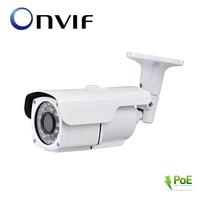 Outdoor IR Waterproof Bullet IP Camera Network P2P Onvif IR 20Meters CMOS 2.0MP Pixels 1080P HD MTV Lens 9-22mm