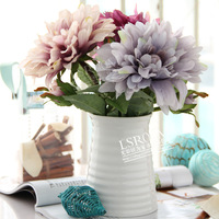 Free shipping 2014 new high quality classical  artificial flower dahlia artificial flowers in decorative pots