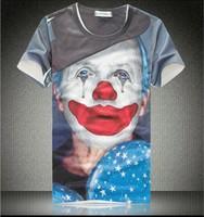 New 2014 summer t shirt for men/ women  short sleeve O-neck T-shirts galaxy 3D print jokers tees tops free shipping