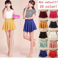 saia 2014 Summer New saias femininas Fashion Women  Skater skirtHigh Quality jupe Pure Midi Skirts Female sheer skirts faldas