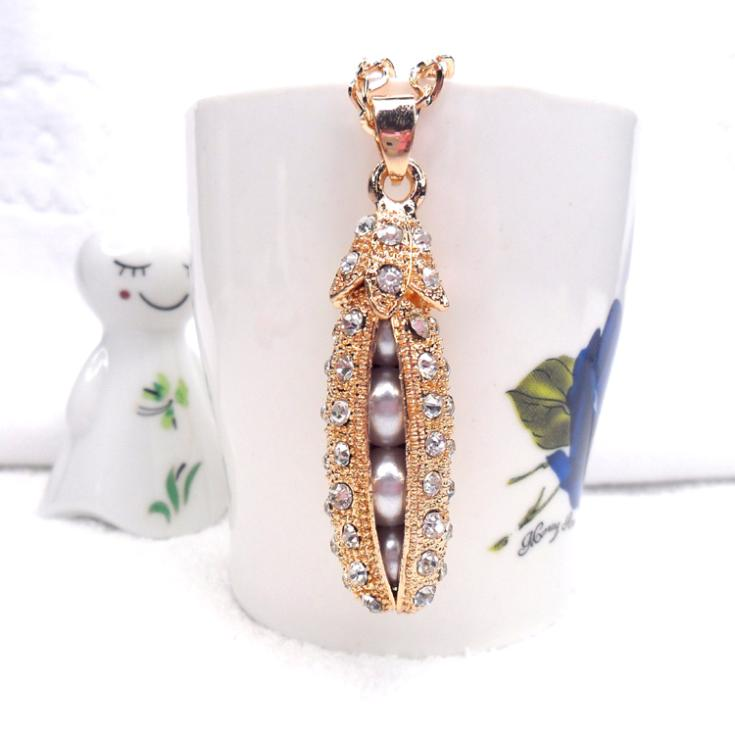2014 Top Fasion Seconds Kill Trendy Collar Jewelry Cac2043 Pea Princess Long Necklace Hot-selling Design Accessories(China (Mainland))