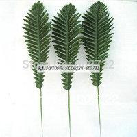 New Stamen Christmas 50 cm Fabric Wedding Home Decor DIY Coconut Palm Tree Artificial  Plant  Leaves Dark Green FL1368