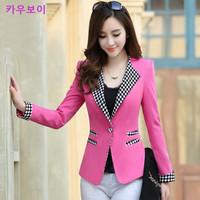Blaser Feminino Hot Sale Cardigans 2014 Free Shipping New Arrival Spring Formal Long-sleeve Suit Collar Female Blazer Outerwear