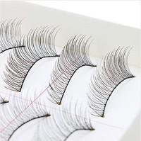 10Pairs/set Makeup Handmade Natural Long False Eyelashes Eye Lashes Sparse+1pcs Eyelash Brush Curler Lash Comb Cosmetic