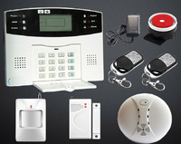 Wireless Wired GSM Alarm System Home Security Alarm System With Smoke Detector