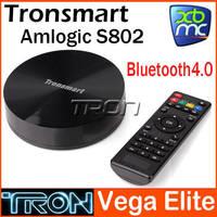 Tronsmart Android tv box quad core Vega Elite S89 Amlogic S802 2G RAM 8G ROM Bluetooth 4.0 Support XBMC  Android 4.4