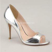 3813 Princess Styles New 2014 Fashion GOLD Silver Women Pumps Sexy High Heels Peep Toes Sandals,Wedding Shoes Women Size 34-43