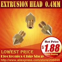 3d printer accessories Brass nozzle Nozzle diameter 0.4 mm Mk8 Makerbot extrusion head