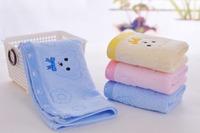 2014 New Arrival 3pcs/Lot  100%  Cotton Carton Bear Soft Towel For Children 27*48cm