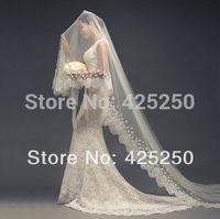 Wedding Veils with Crystal Veils Bridal Veil Dream Petals 300cm Length Laciness Ultra Long Paragraph Train Wedding Dress Dsm6101