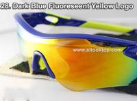 Free shipping Dark Blue sport eyeglasses radarlock 36color Men sun glasses 5 lens cycling eyewear oculos sunglasses gafas de sol