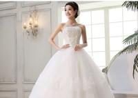 2014  new wedding dresses,  wipes bosom wedding dresses, sweet bride, neat, and princess lace strap