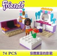 Bela Building Blocks Hot Toy Friends Andrea's Bedroom  Construction Sets Educational Bricks Toys for Girls Assembling BLocks