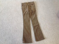 $79 brand FOR ALL MANKIND bell bottom corduroy trousers flare pants 0.5kg plus size 24-29