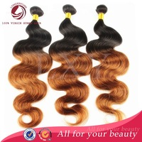 Unprocessed 6A grade human hair weave weft 5 pieccs/lot rosa queen virgin brazillian ombre body wave hair bundles free shipping
