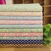 10 Assorted Cute Little Floral Print Pre-Cut Twill Cotton Quilt Fabric Fat Quarter Tissue Bundle Charm Sewing Textile 45x45cm