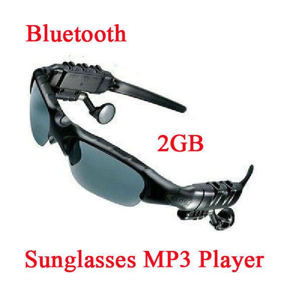 Wireless bluetooth headset sonnenbrille kopfhörer sonnenbrille 2g mp3-player für handy handy neuen 2014