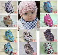 Fashion Baby Kid Toddler Bandana Bibs Saliva Towel Dribble Triangle boy girls cotton Head Scarf 5pcs/lot xth413