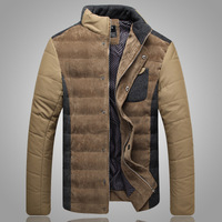 2014 stylish men in winter to keep warm cotton-padded clothes /Men's casual stand collar surface coat