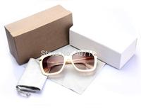 2014 new Brand Designer female sunglasses woman eyewear 3138 fashion big box retro star sunglasses women all matched glass