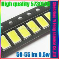 5630/5730-WW 0.5W 50-55lm 6500K White Light SMD 5730 LED - (3.2~3.4V / 100 PCS)