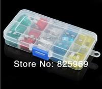 48pcs 5A,10A,15A,20A,25A,30A Mini Auto Fuse Kit + transparent box,Automotive Fuses sets,Blade Fuse Free Shipping
