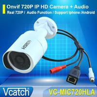 720P Mini IP HD Audio Camera Waterproof Nightvision IP66 Network 1.0MP HD CCTV Security Surveillance Camera with Audio Function