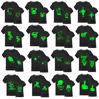 NEW 2014 fashion summer men 3d t shirt glow in the dark super bat man luminous casual sport lovers shirts night light plus size