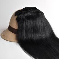 "Free Shipping 100% real Brazilian  virgin Human Hair Clip in Extensions 14"" -30"" 70g -120g 7Pcs/Set  #1 Jet black"
