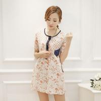 new 2014 spring one-piece dress plus size clothing long-sleeve slim print skirt female, casual dress, women dress