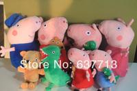 The latest Peppa Pig Plush Doll Stuffed Toy Peppa Bear GEROGE Dinosaur peppa geroge mummy daddy Grandmagrandpa 8 style