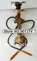 "khalil Mamoon -18"" turtle & cobra snake cross,2 Hose, figurine Hookah pipe narghile,shisha huka -free shipping"