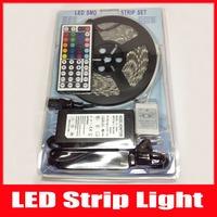 Waterproof 5050 RGB Led Strip Flexible Light 60led/m 5M 300 LED SMD DC 12V+ 44 keys IR Remote Controller+ 6A Power Supply