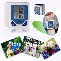 "Free Shipping 1.7"" LCD Display Digital Automatic Wrist Blood Pressure Monitor Oximeter Arm Health Monitors Health Care Machine"