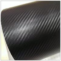 new style ROHS certificate 1.52X30m Air free bubbles black pvc foil 3D carbon fiber
