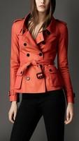 New British Style Trench Coat Best Quality Designer orange /Khaki Fashion Casual Dust Coat Outwear Upper Garments Free Shipping