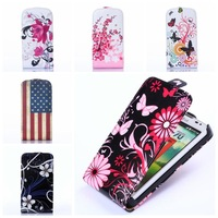 For Samsung Galaxy ACE3 ACE 3 III S7270 7270 S7272 7272 S7275 S7278 Flowers Butterfly Flip Leather Back Phone Cover Cases Case