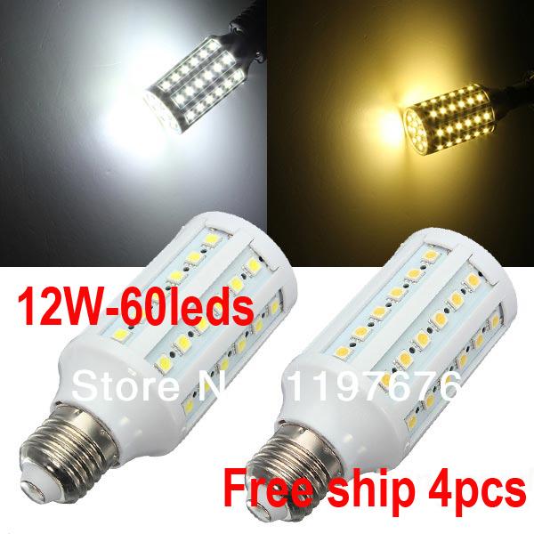 Ultra bright led 12w e27 e14 b22 110v/220v blanc froid blanc chaud mené la lampe avec 60 360 conduit spot degré navire libre