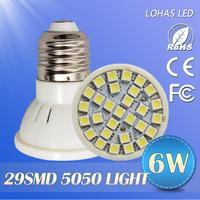 1pcs/lot High quality led lamps 4W/5w/6W/7w e27E26 base  led bulbs 3528smd led spotlight 110v/220v led light