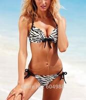 lady bikini set zebra striped biquini push up swimwear sexy women swimsuit