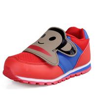 2014 spring children shoes boys girls flats child sport sneakers cartoon monkey wear-resistant casual kids running shoe 9
