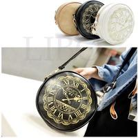 Bolsas Rushed Women Handbags 2014 Women's Handbag Circle One Shoulder Mini Messenger Bag Round Clock Coin Purse Cross Body Bolsa