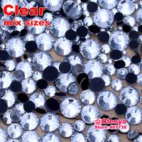 Mixed 6 Sizes Crystal Clear 1440pcs/Bag DMC HotFix FlatBack Rhinestones Hot Fix iron-on Accessories Stones High Quality