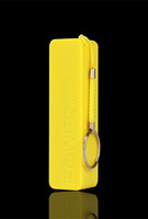Yellow color Key ring perfume Power bank charger 2600mAh 18650 usb powerbank 2600 mah protable Battery For iPhone 4S 5 5s