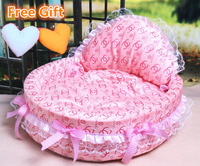 NEW! luxury dog princess bed lovely cool dog pet cat beds sofa teddy house free heart pillow free gifts!