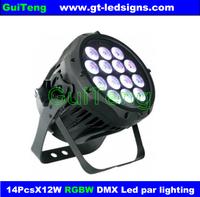 Free Shipping 14PCS*10w LED Waterproof PAR Light / LED Stage Lighting / Wedding Light Gua