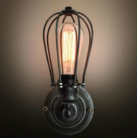 2015 Loft Vintage Nostalgic Industrial Lustre Ameican Edison Wall Sconce Lamp bathroom Bedroom Mirror Home Decor Modern Lighting