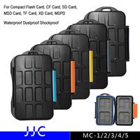 JJC MC Series Digital Camera Memory Card Case Waterproof Dustproof Shockproof For Compact Flash CF SD Card TF Micro SD XD Card