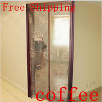 Fuya magnetic soft screen door magnetic stripe mosquito curtain magnetic screen door set gold mosquito screen door customize
