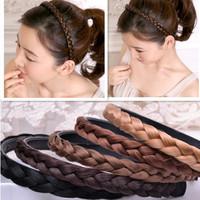 New Arrival Fashion Twisted Wig Braid Hair Bands headband Women Hair Accessories